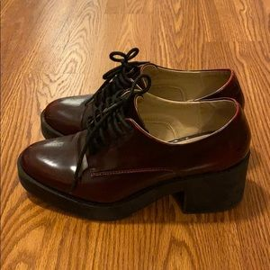 Zara Women's Trafaluc Shoes - Burgundy Color